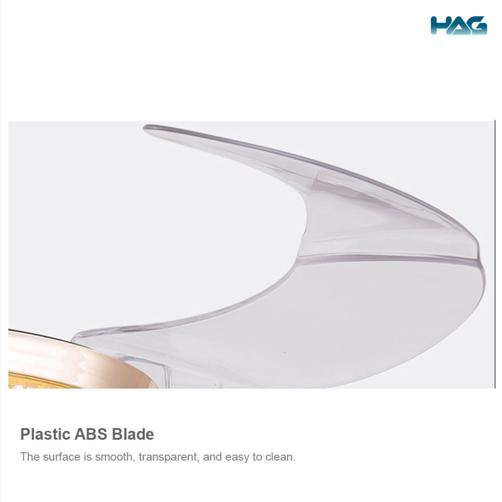 HAG Invisible Blade Ceiling Fan 6069 (Classic Gold) blades