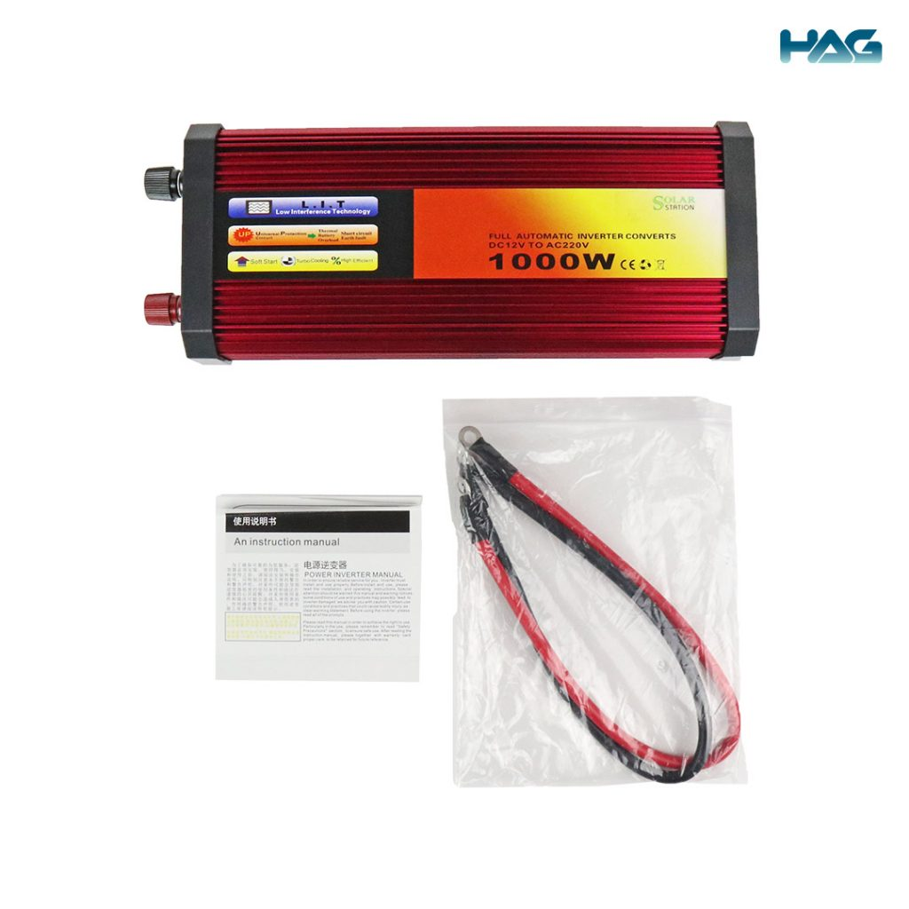 Whats in the box for solar inverter 1000W